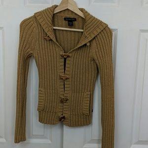 Abercrombie & Fitch camel cardigan size m
